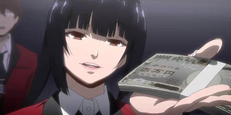Kakegurui-Yumeko-With-Money