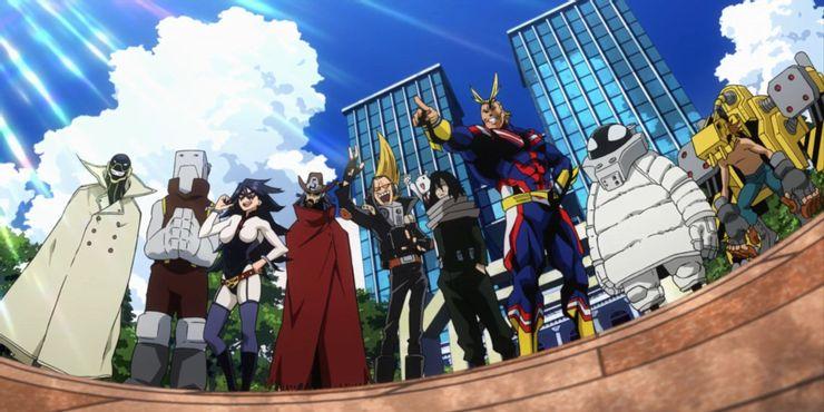 U.A.-School-My-Hero-Academia-Ectoplasm-Nezu-Snipe-Thirteen-All-Might-Toshinori-Yagi-Midnight-Eraser-Head-Shota-Aizawa-Present-Mic-Cementoss-Power-Loader