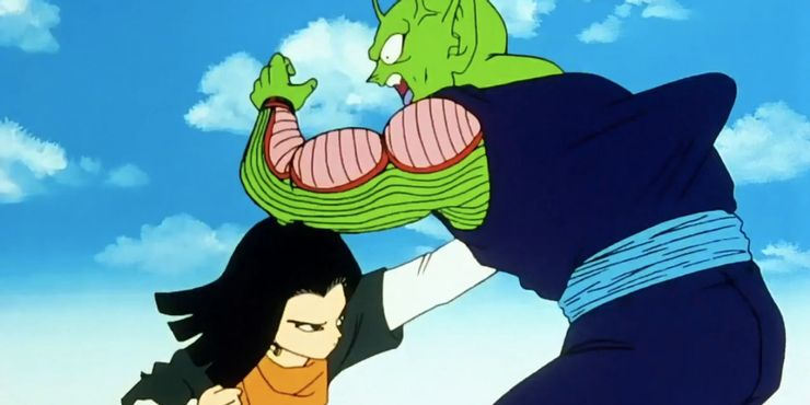 Dragon-Ball-Z-Android-17-Punches-Piccolo